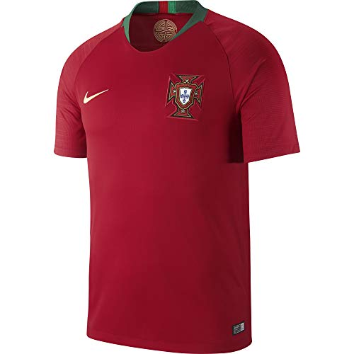 Nike Mens 2018 Portugal Home Jersey X-Large (Gym Red/Pine Green) (Replica Jersey Portugal)