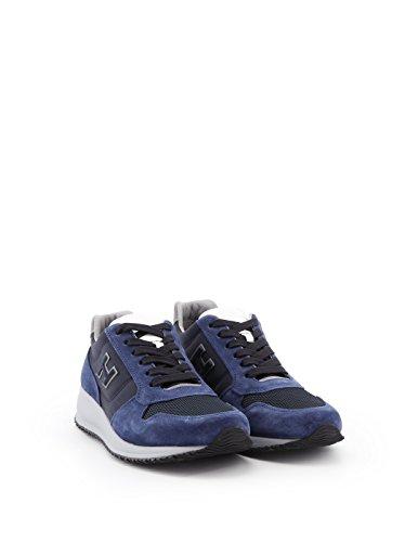 Hogan Mannen Hxm2460k670igh0pcn Blauwe Suède Sneakers