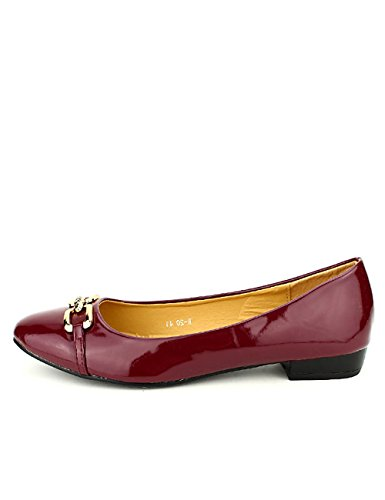 Femme Vernies Shoes Cendriyon Chaussures Ballerines MetL Bordeaux SRfqnY7xw