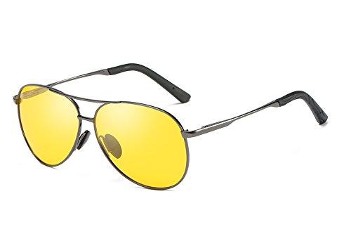 FEISEDY Classic Pilot Polarized Sunglasses Men Spring Hinge Night Vision Driving Eyewear B2294