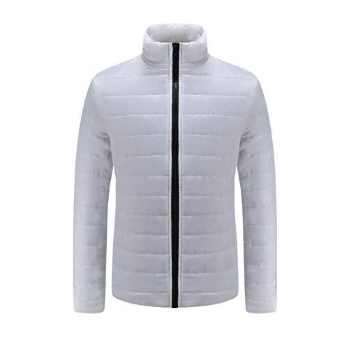 Caldo Colletto Inverno Fashion Outwear Bianco Cappotto Confortevole Zip Giacca Slim Amuster Casual Uomo Uomini Autunno 08CwdC