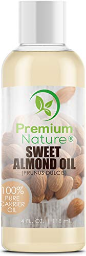 Sweet Almond Oil Carrier Oil - Cold Pressed Pure Natural Body Massage Oils for Essential Oils Mixing, Baby Oil Dry Skin Face Moisturizer Eye Makeup Remover Healthy Nails Cleansing Properties 4 oz (Sweet Jojoba Butter)