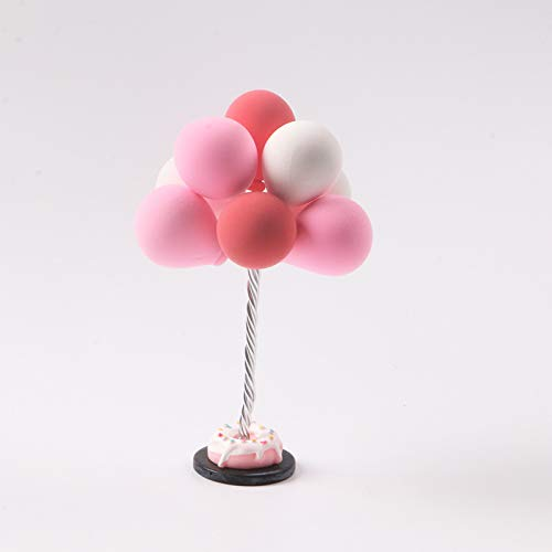 Ocamo Small Balloon Design Clay Car Decoration Colorful Cartoon 3D Decoration 8#]()