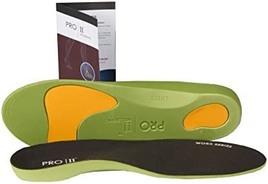 Pro11 wellbeing WorX Series Orthotic insoles for plantar Fasciitis and fallen arches(10.5-12) by PRO11 Wellbeing plantar series