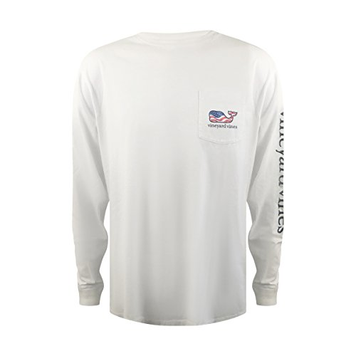 fb5bfa95 Vineyard Vines Mens Signature Graphic Long Sleeve Pocket T-Shirt (Large,  Waving Flag