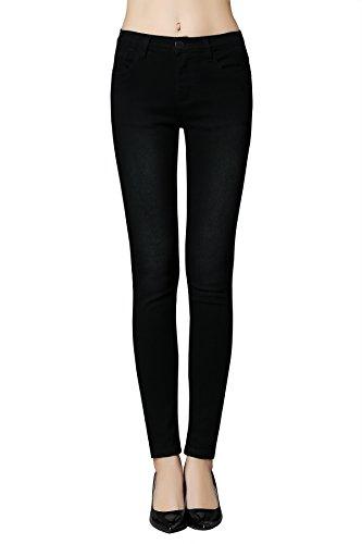 Low Rise Womens Skinny Jeans (Butt Lift Skinny Jeans, ZLZ Women's Casual Stretch Jeans Leggings (6,)