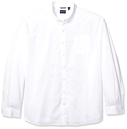 Dockers Men's Big and Tall Long Sleeve Button Down Comfort Flex Shirt, Paper White, 4X- Large T