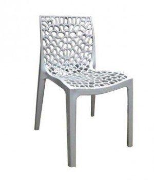 DZYN Furnitures Plastic Supreme Web Chair (White)