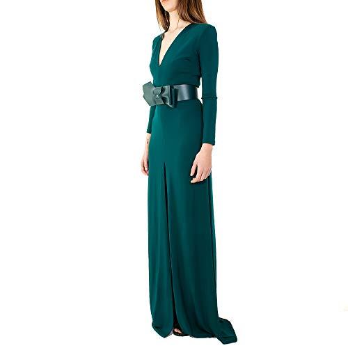 Ecopelle In Dress Colore Cintura Ottanio Franchi Abito Long Donna Elisabetta Con RZOAqO