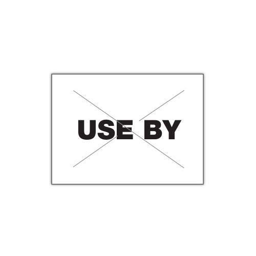 Garvey 2216-08791-CS, GX2216 White/Black''Use by'' Label (Case of 180000 Labels)