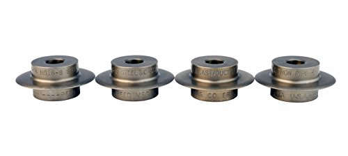 Reed® 03507 Set of (4) Hardened Steel HSI6-8 Wheels Fits SDT-H6 4''-6'', SDT-H8 6''-8'' Cutter & SDT-1224 Pipe Threader by REED