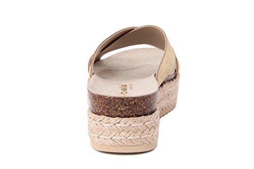 RI-BELLE - Sandalias de Piel para mujer dorado Platinum
