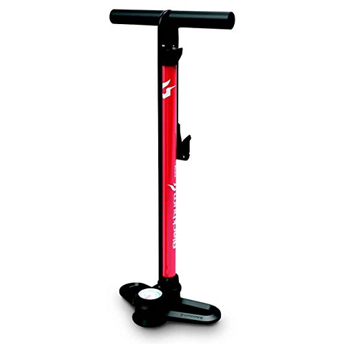 Blackburn Piston 1 Bicycle Floor Pump (Red/White/Blue)