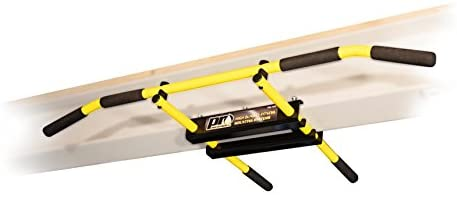 PRO Mountings I-Beam Pull up Bar Chin up Bar Yellow Long Bar with Bent Ends