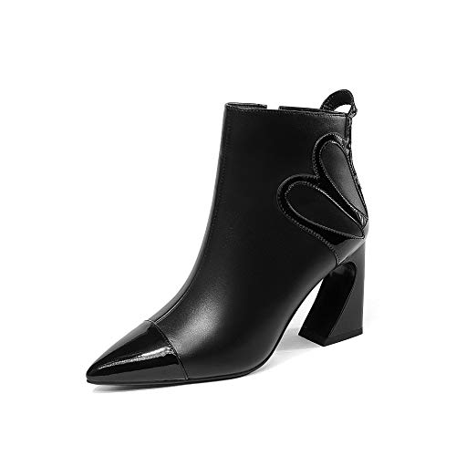 Pointu Bottines pour Bout Talon à Femme à Plat Black rq1rYX