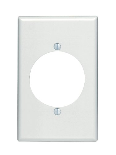 Leviton 80528-W 1-Gang Flush Mount 2.15-Inch Diameter, Device Receptacle Wallplate, Midway Size, White