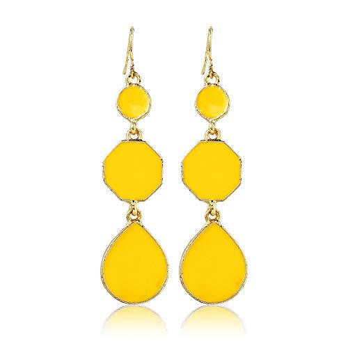 (Moonstruck Round Drop & Dangle Earrings for Women)