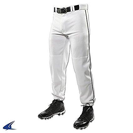Champro Youth Triple Crown Dugout Baseball Pant with Braid B01I0J6FGK Large|ホワイト/ブラック ホワイト/ブラック Large