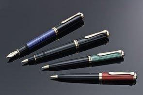 (Pelikan 800 Series Fountain Pen - Green/Black, Fine Nib 995704)