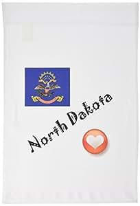 3dRose fl_7202_1 I Love North Dakota Garden Flag, 12 by 18-Inch