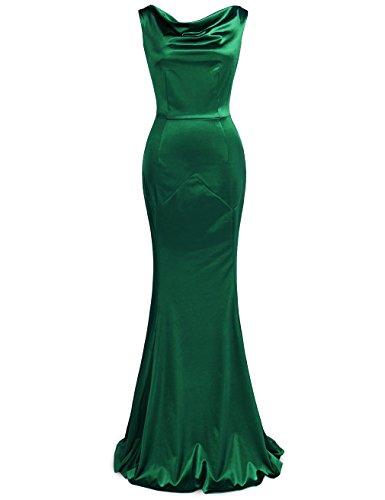 Womens Evening Wear (MUXXN Women's 30s Brief Elegant Mermaid Evening Dress (L, Green))
