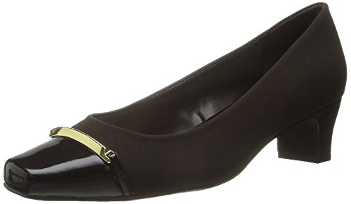 Easy Street Womens Alexis Dress Pump Brown Lamey / Brown Patent