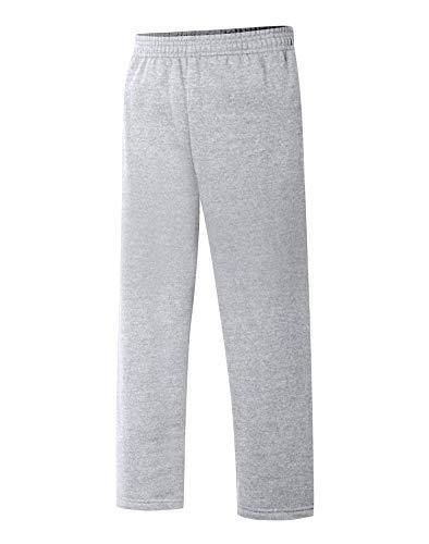 Hanes Boys Open Leg Sweatpants (D097) -Light Stee -S