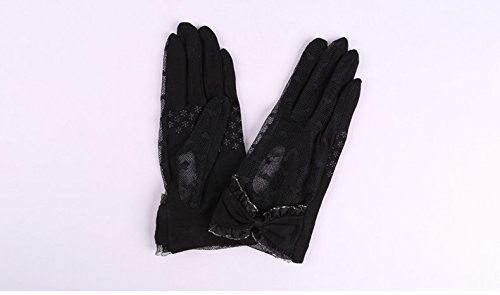 Women's Lace Floral Elegant Gloves for Driving/Party/Evening With''Love'' pattern by LAI MENG FIVE CATS (Image #3)