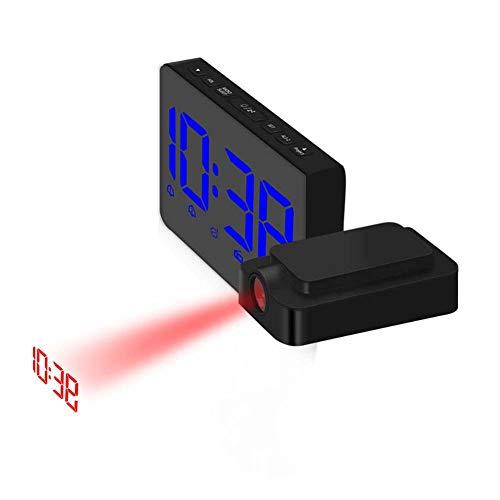 Feng tata Reloj LED de proyección, Radio Despertador Creativo de ...