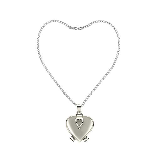 Yezijin Enlarge Photo Small Box Necklace Heart Shaped Creative Gift Jewelry Decoration Under 5 Dollars for Ladies Women Girl Valentine's Day Gifts - Ab Rose Heart