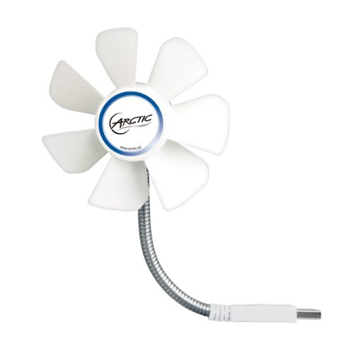 ARCTIC Breeze Mobile - Mini USB Desktop Fan with Flexible Neck I Portable Desk Fan for Home, Office I Silent USB Fan I Fan Speed 1700 RPM - White