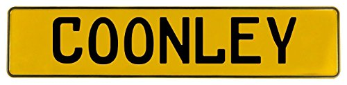 Vintage Parts 618136 Coonley Yellow Stamped Aluminum Street Sign Mancave Wall Art