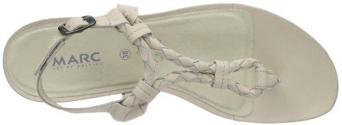 Marc Shoes Indira 1.637.03-08/210 - Chanclas de cuero para mujer, color blanco, talla 36 Blanco (Weiß (offwhite 210))