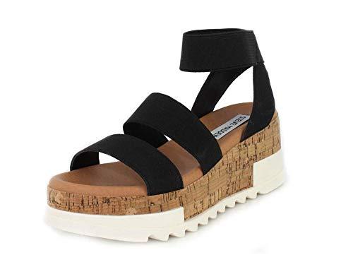 (Steve Madden Womens Bandi Black Sandal - 8.5)