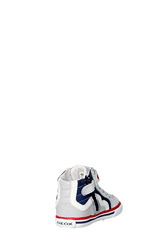 Geox B Kilwi Boy, Zapatillas Altas para Bebés blanco/azul