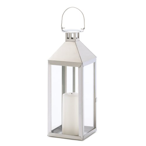 Gifts & Decor Silver Hurricane Hanging Candle Holder Lantern