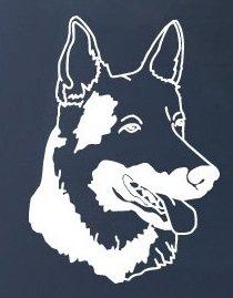 - GERMAN SHEPHERD HEAD - Dog - Vinyl Decal Sticker #1516 | Vinyl Color: White