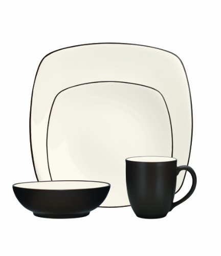 Noritake 4-Piece Colorwave Square Place Setting, Chocolate ()