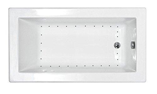 Left Drain White 32 X 60 Atlantis Whirlpools 3260vnal Venetian Rectangular Air Jetted Bathtub