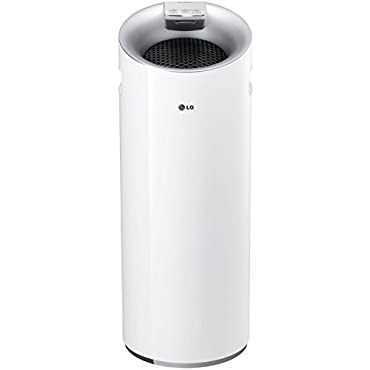 LG AS401WWA1 Puricare Tower Filter Air Purifier with Smart Air Quality Sensor & Lodecibel Operation
