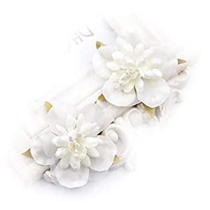 Artificial Flower Heads in Bulk Wholesale for Crafts Fake Silk Flowers Rayon Cherry Head Wedding Party Gift Boxes Decorated Wreath DIY Festival Decor Home Decoration Craft 30PCS 5CM (Milk White) 37