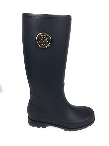 Tory Burch Sarah Logo Rainboots Bright Blue 7