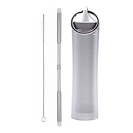 Amazon com: SAVORLIVING Reusable Stainless Steel Straws 10 5