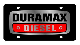 Chevrolet Eurosport Daytona- Compatible Duramax on Carbon Steel License Plate