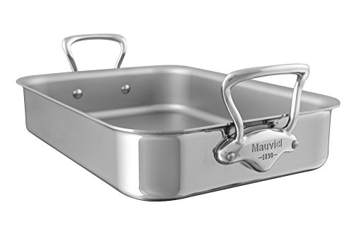 Mauviel Made In France MCook 5217.40 15.7 x 11.8 Inch Roasting Pan, Cast Stainless Steel Handle