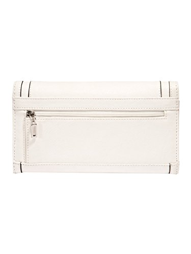 G by GUESS Women's Lalena Checkbook Wallet, WHITE