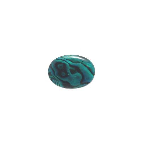Green Paua Abalone Shell (Shipwreck Beads Oval Abalone Cabochon, Green, 18 by 25-mm,)