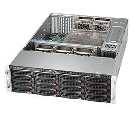 Supermicro Rack-Mountable 3U Case CSE-836TQ-R500B (Black)