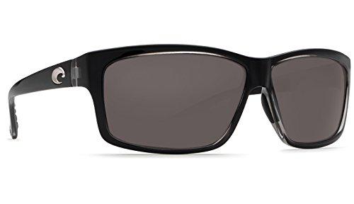 Costa del Mar Cut Polarized Rectangular Sunglasses, Squall/Gray 580 Plastic by Costa Del Mar