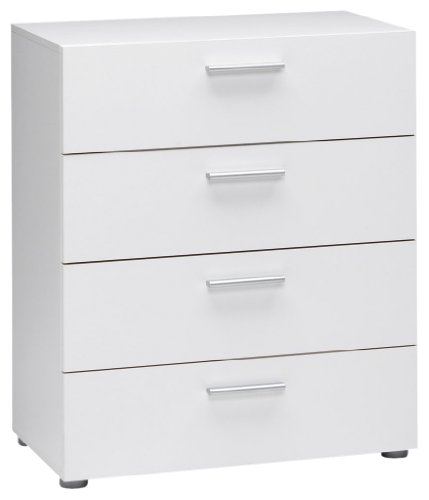 Tvilum Austin 4-Drawer Dresser, White ()